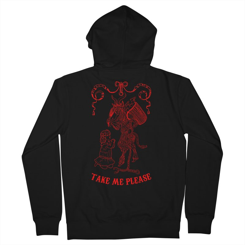 Krampus Men's Zip-Up Hoody by marpeach's Artist Shop