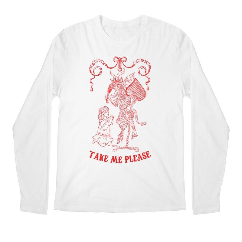 Krampus Men's Regular Longsleeve T-Shirt by marpeach's Artist Shop