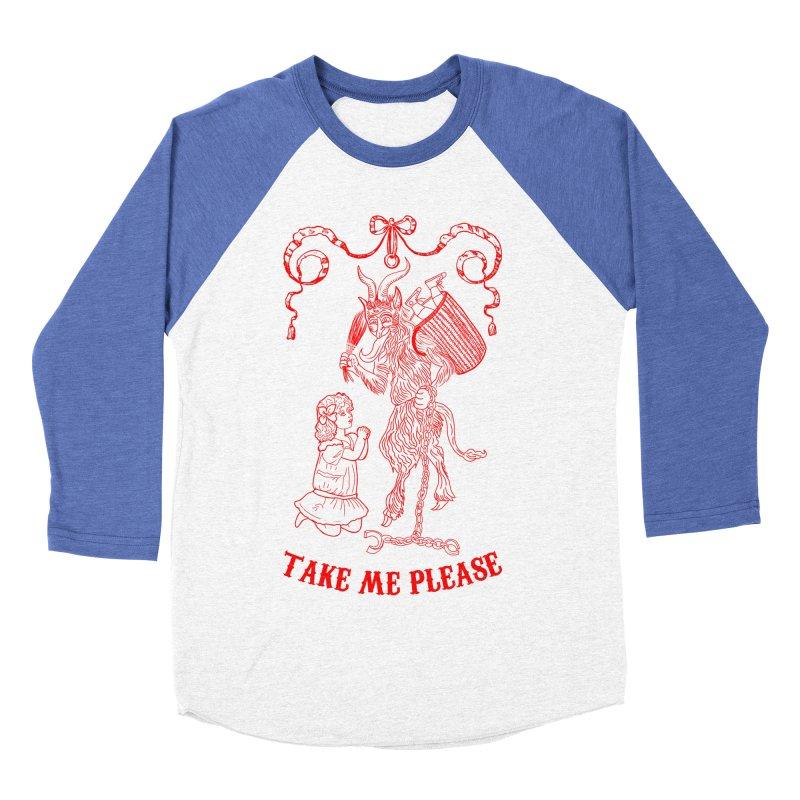 Krampus Men's Baseball Triblend Longsleeve T-Shirt by marpeach's Artist Shop