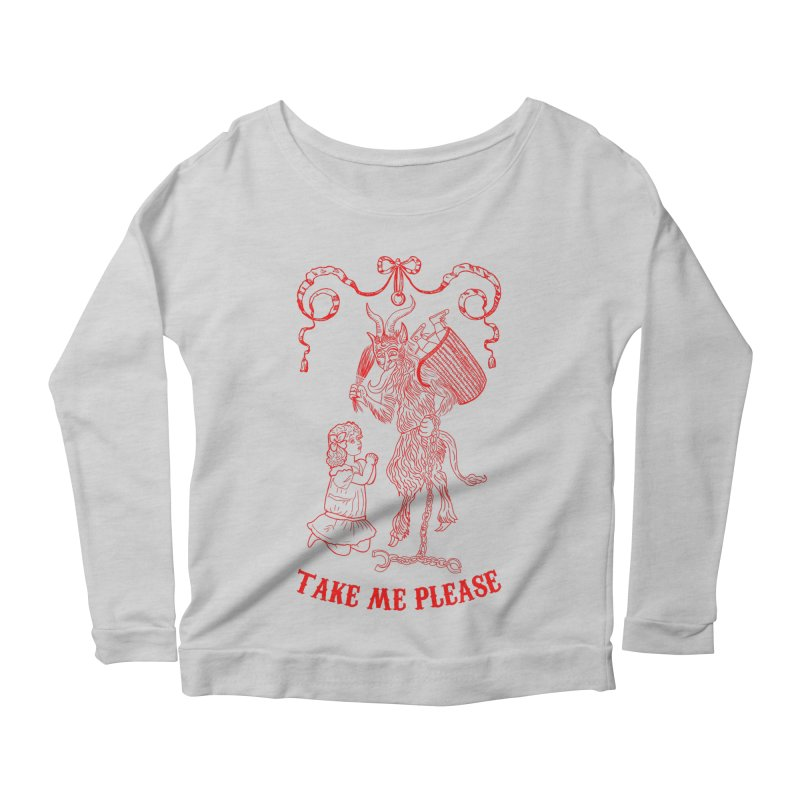 Krampus Women's Scoop Neck Longsleeve T-Shirt by marpeach's Artist Shop