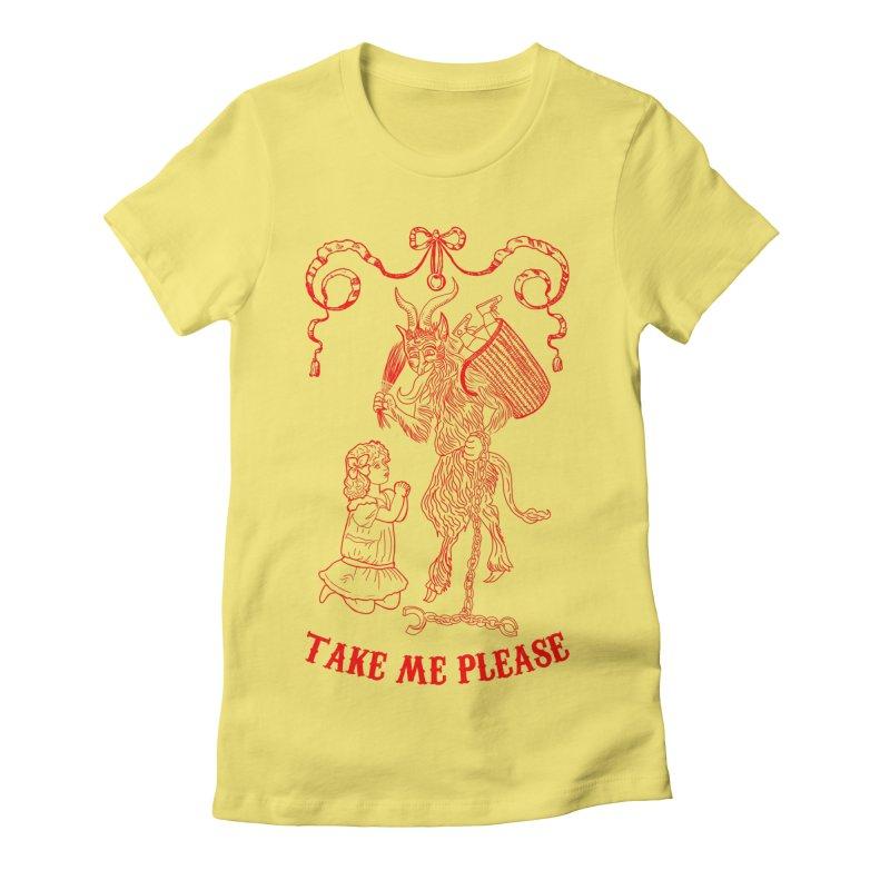 Krampus Women's Fitted T-Shirt by marpeach's Artist Shop