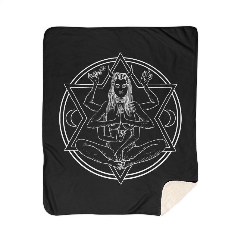 Meditation.. Home Sherpa Blanket Blanket by marpeach's Artist Shop