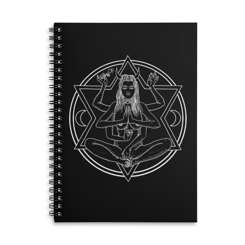 Meditation.. Accessories Lined Spiral Notebook by marpeach's Artist Shop