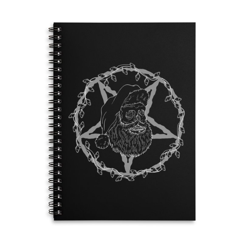 Hail santa Accessories Lined Spiral Notebook by marpeach's Artist Shop