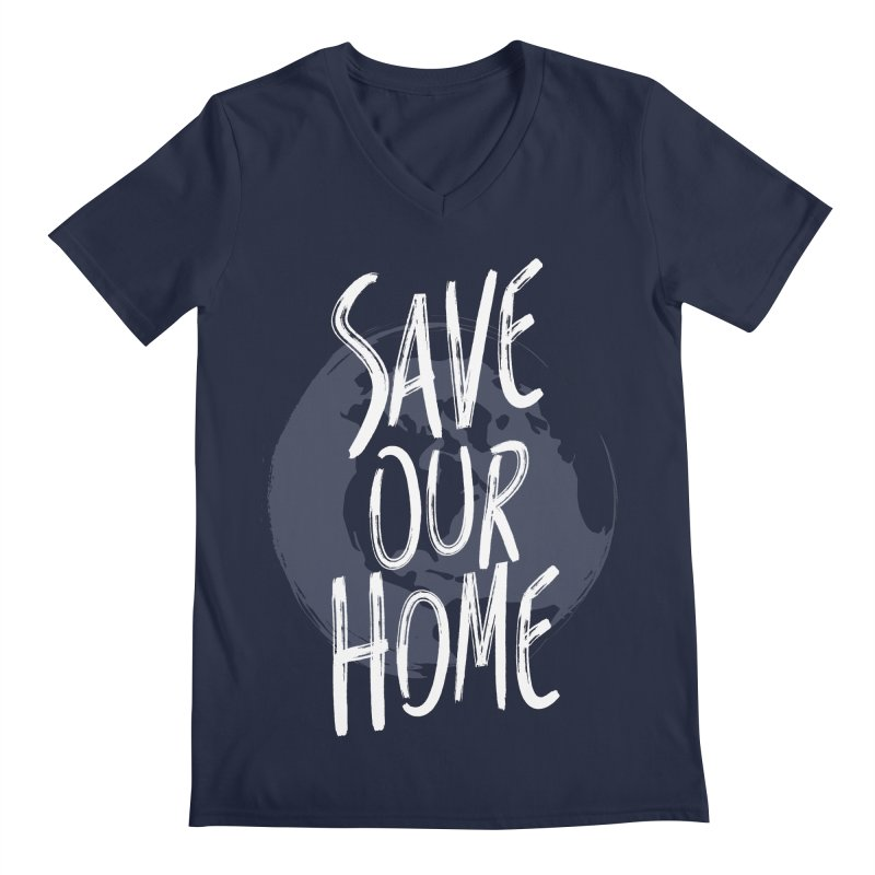 Save Our Home Men's Regular V-Neck by Marrowbone Apparel