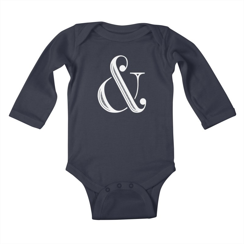 The Ampersand Kids Baby Longsleeve Bodysuit by Marrowbone Apparel