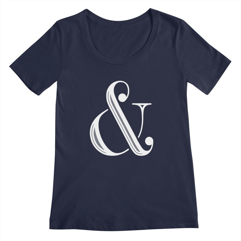 The Ampersand Women's Regular Scoop Neck by Marrowbone Apparel