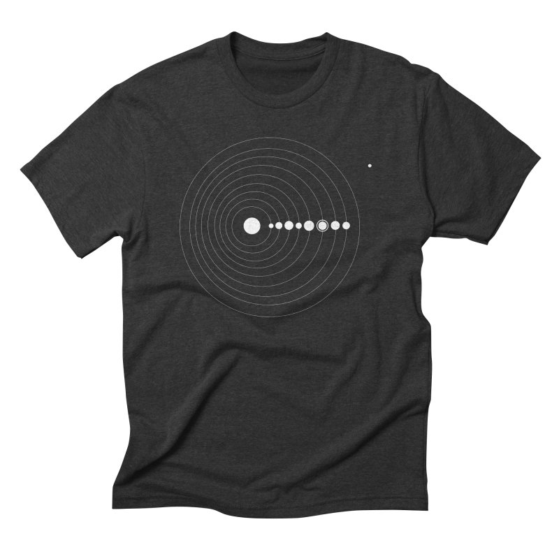 Peace Out, Pluto Men's Triblend T-Shirt by Marrowbone Apparel