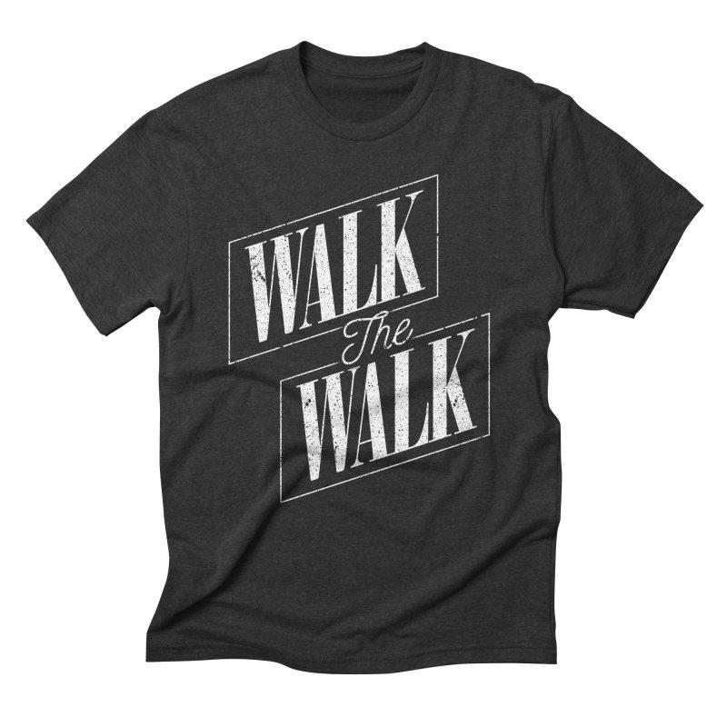 Walk the Walk Men's Triblend T-Shirt by Marrowbone Apparel