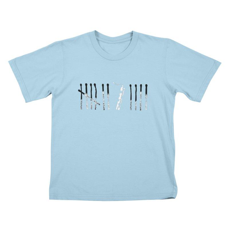 7 is 4 Fireworks! Kids T-shirt by Marrowbone Apparel