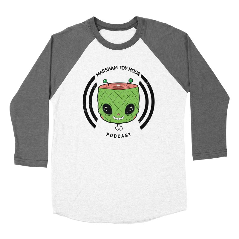 Marsham Alien Men's Baseball Triblend Longsleeve T-Shirt by Marsham Toy Hour