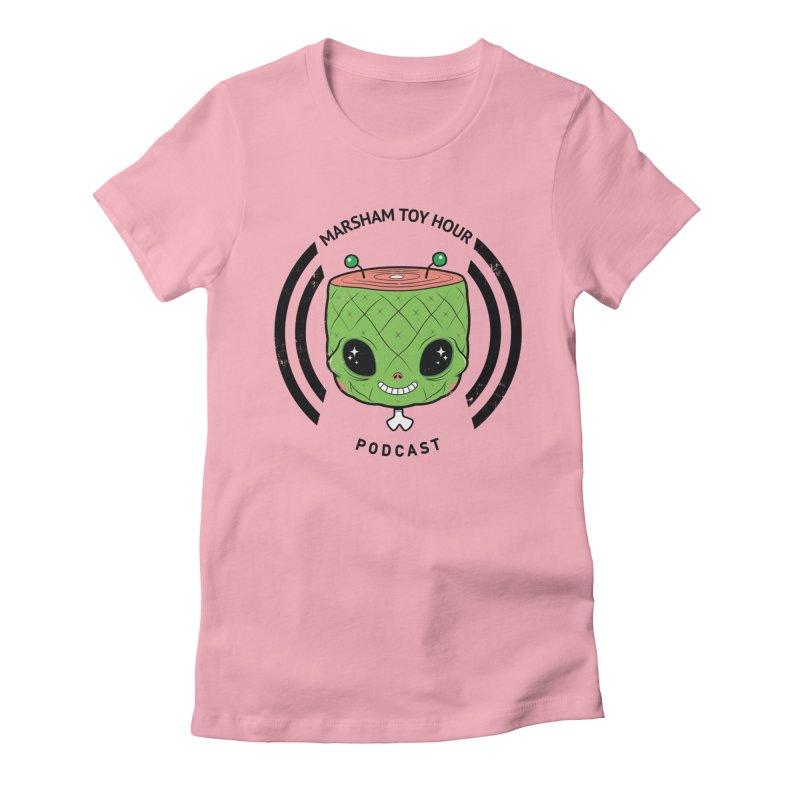 Marsham Alien Women's Fitted T-Shirt by Marsham Toy Hour