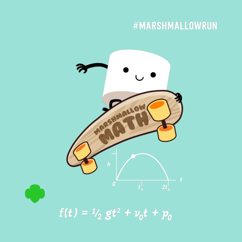 Marshmallow Math Kids Toddler Longsleeve T-Shirt by marshmallowrun's Artist Shop