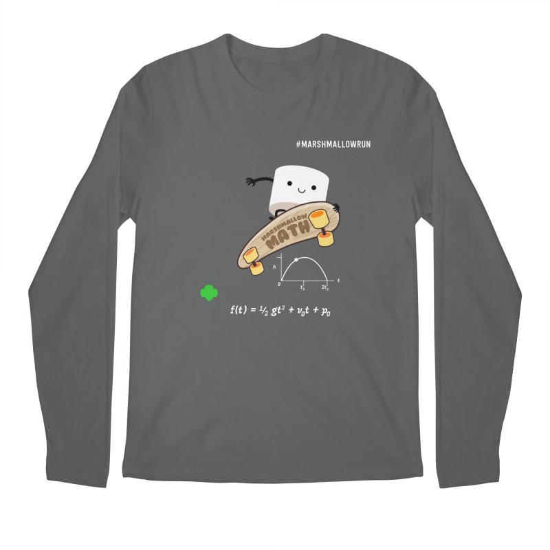 Marshmallow Math Men's Longsleeve T-Shirt by marshmallowrun's Artist Shop