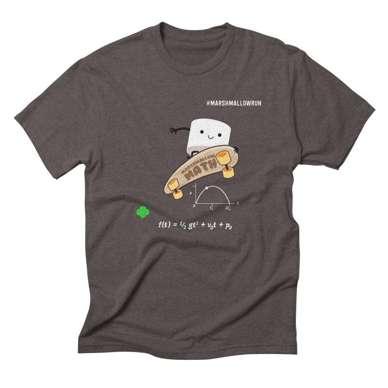 Marshmallow Math Men's Triblend T-Shirt by marshmallowrun's Artist Shop