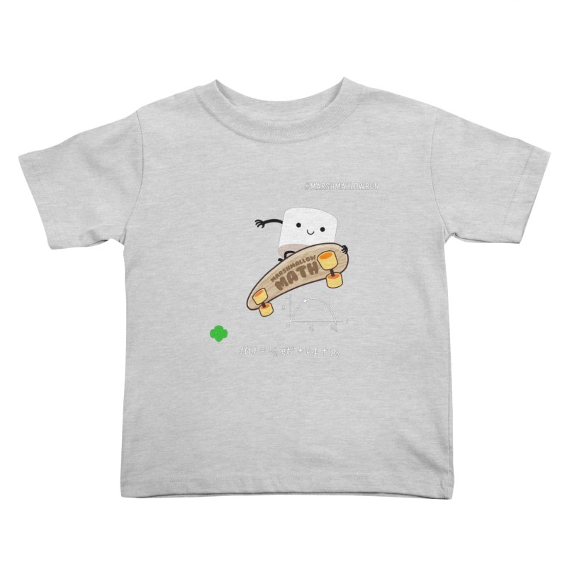 Marshmallow Math Kids Toddler T-Shirt by marshmallowrun's Artist Shop