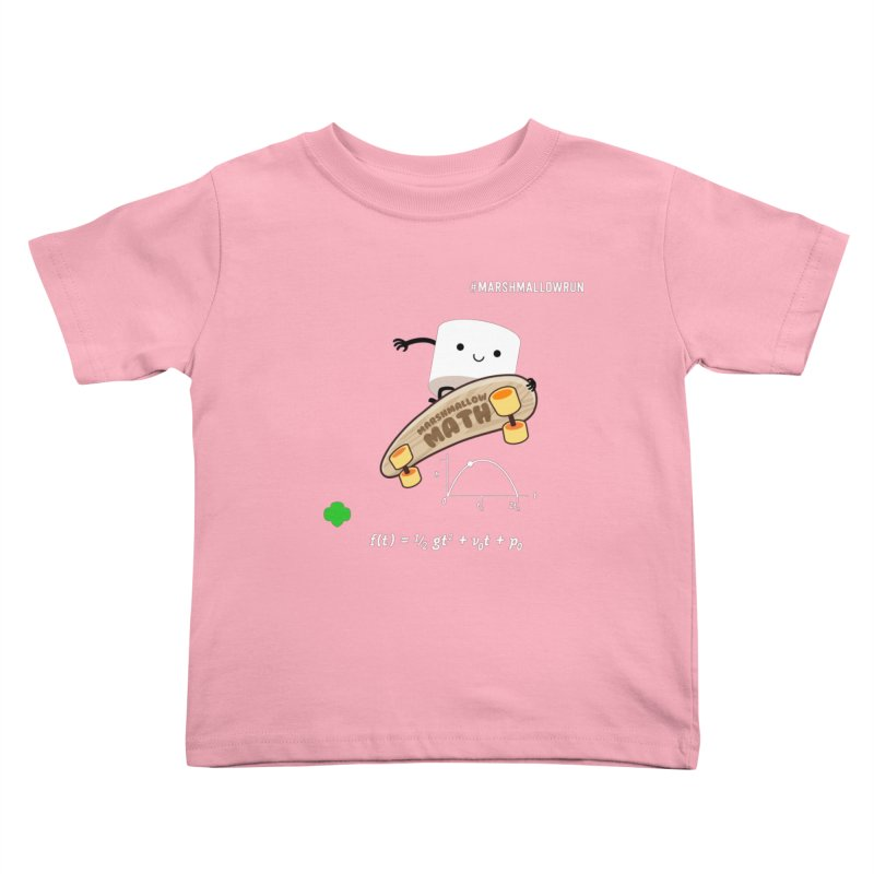 Marshmallow Math Kids Toddler T-Shirt by marshmallowrun's Artist Shop