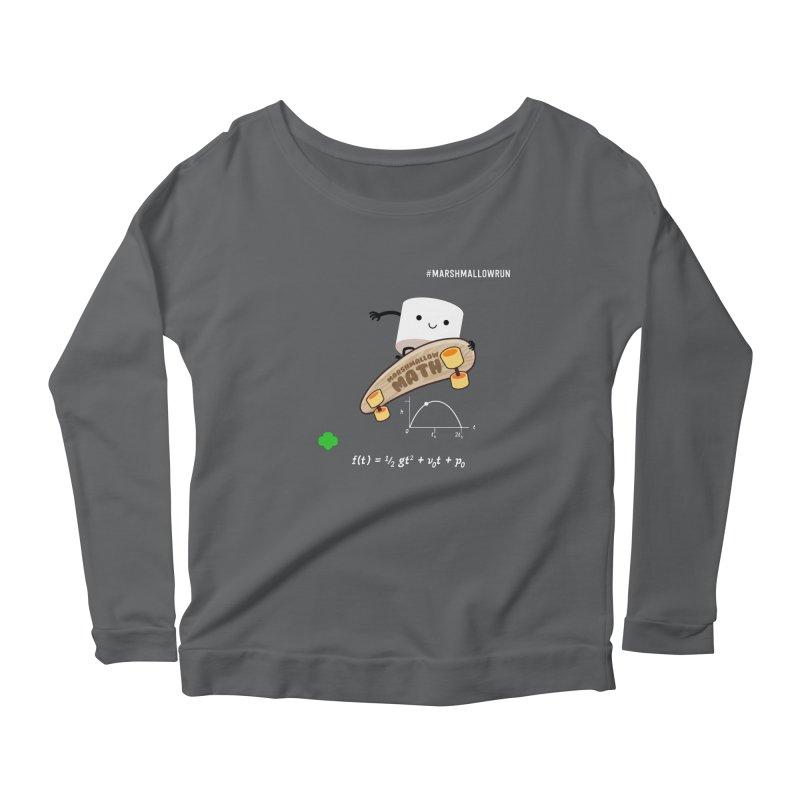 Marshmallow Math Women's Scoop Neck Longsleeve T-Shirt by marshmallowrun's Artist Shop
