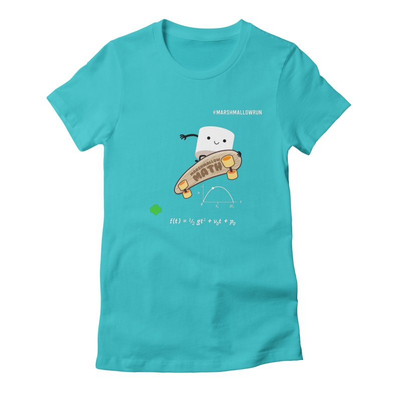 Marshmallow Math Women's Fitted T-Shirt by marshmallowrun's Artist Shop