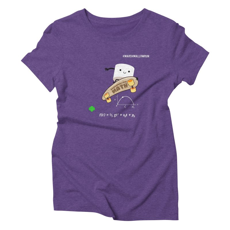 Marshmallow Math Women's Triblend T-Shirt by marshmallowrun's Artist Shop