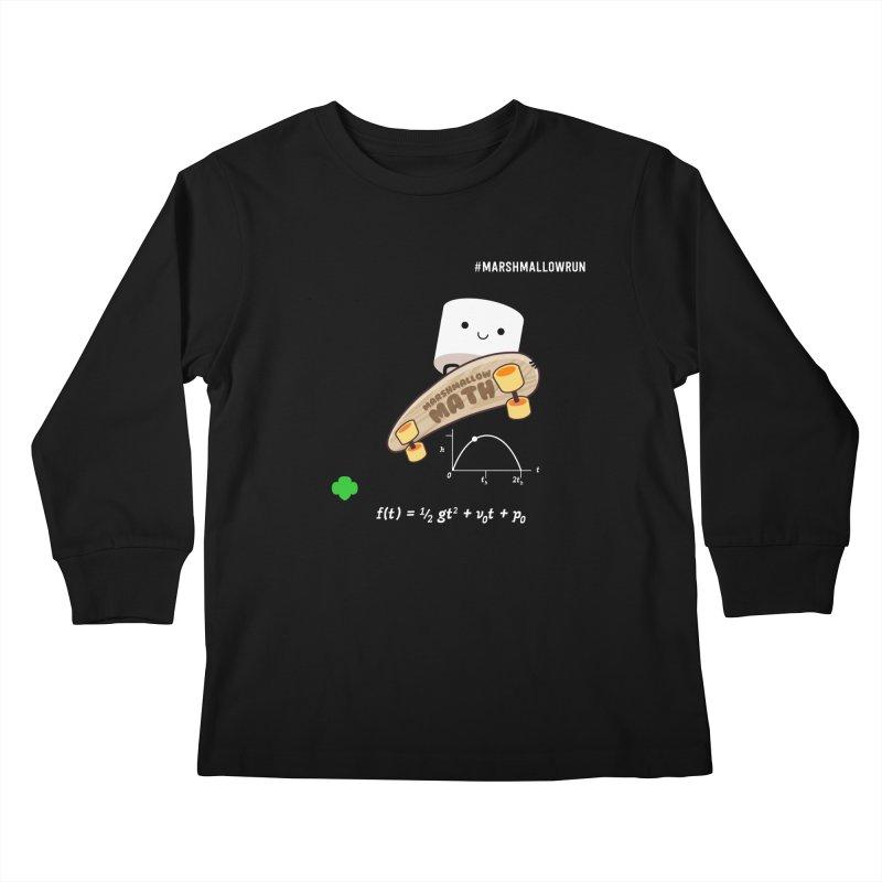 Marshmallow Math Kids Longsleeve T-Shirt by marshmallowrun's Artist Shop