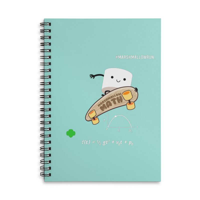 Marshmallow Math Accessories Notebook by marshmallowrun's Artist Shop