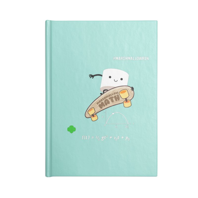 Marshmallow Math Accessories Blank Journal Notebook by marshmallowrun's Artist Shop
