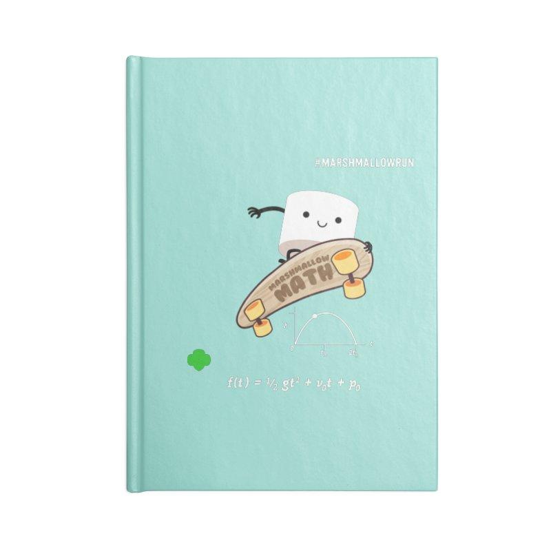 Marshmallow Math Accessories Lined Journal Notebook by marshmallowrun's Artist Shop