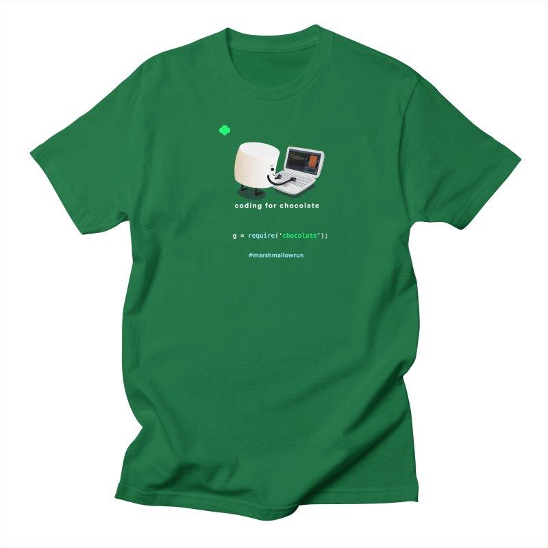 coding for chocolate Men's T-Shirt by marshmallowrun's Artist Shop
