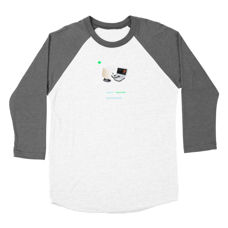 coding for chocolate Men's Baseball Triblend Longsleeve T-Shirt by marshmallowrun's Artist Shop