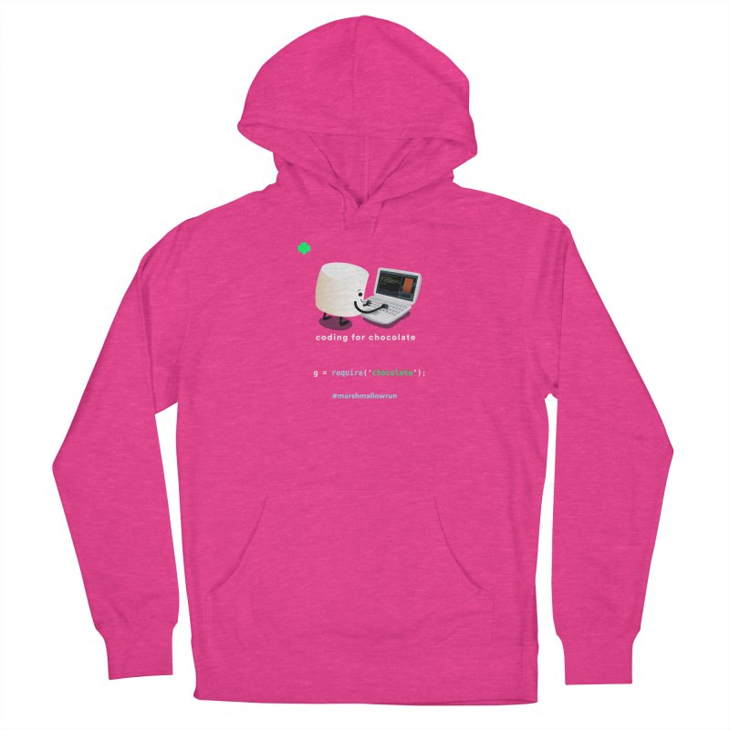 coding for chocolate Women's French Terry Pullover Hoody by marshmallowrun's Artist Shop