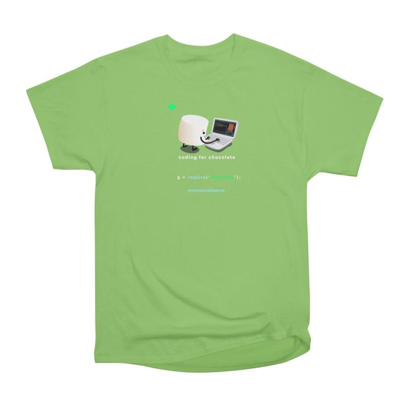 coding for chocolate Men's Heavyweight T-Shirt by marshmallowrun's Artist Shop