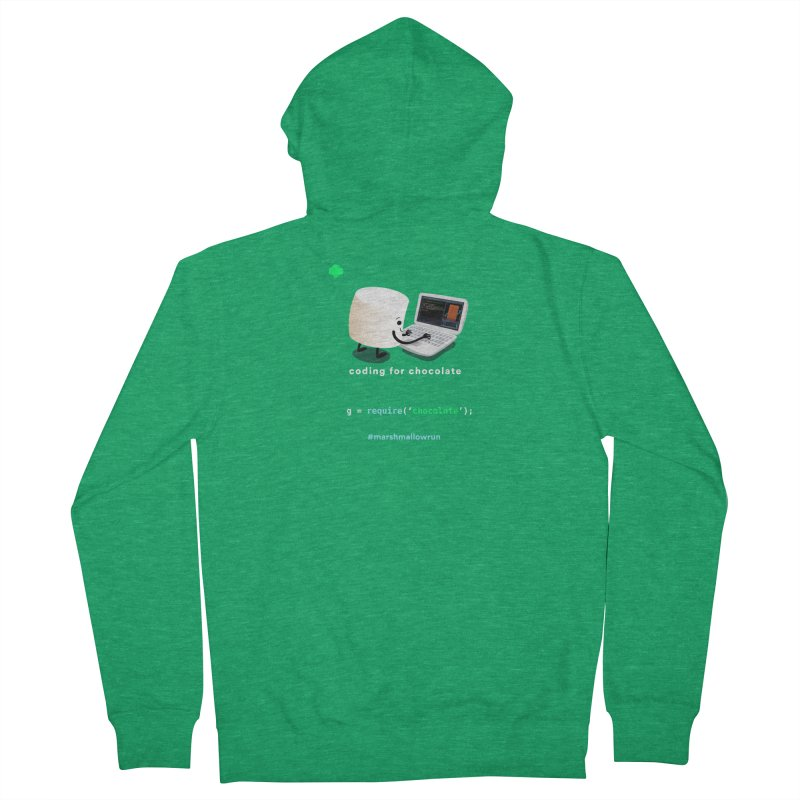 coding for chocolate Women's French Terry Zip-Up Hoody by marshmallowrun's Artist Shop