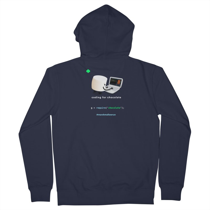 coding for chocolate Women's Zip-Up Hoody by marshmallowrun's Artist Shop
