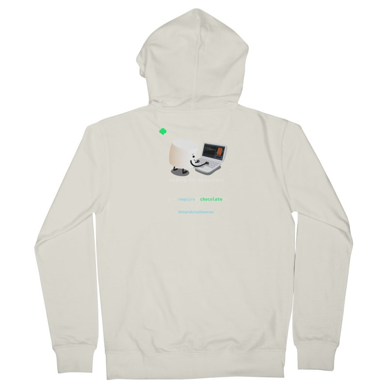 coding for chocolate Men's French Terry Zip-Up Hoody by marshmallowrun's Artist Shop