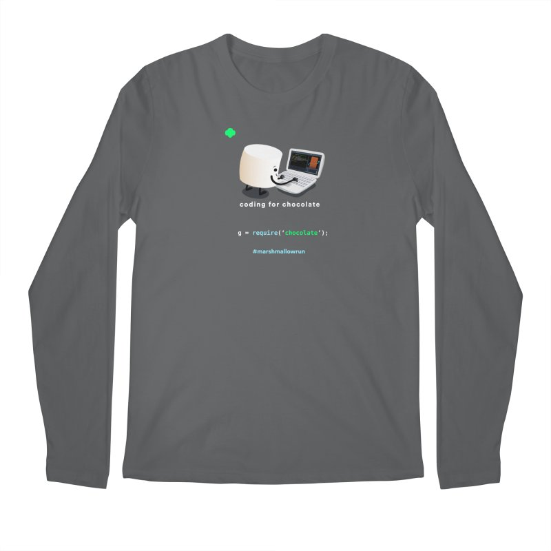 coding for chocolate Men's Longsleeve T-Shirt by marshmallowrun's Artist Shop