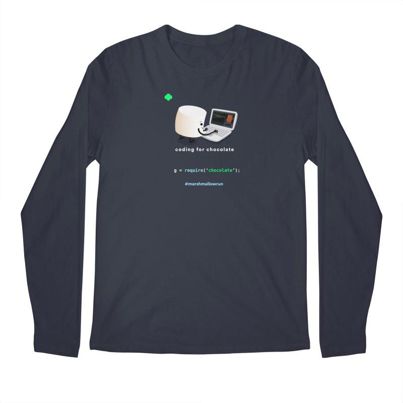 coding for chocolate Men's Regular Longsleeve T-Shirt by marshmallowrun's Artist Shop