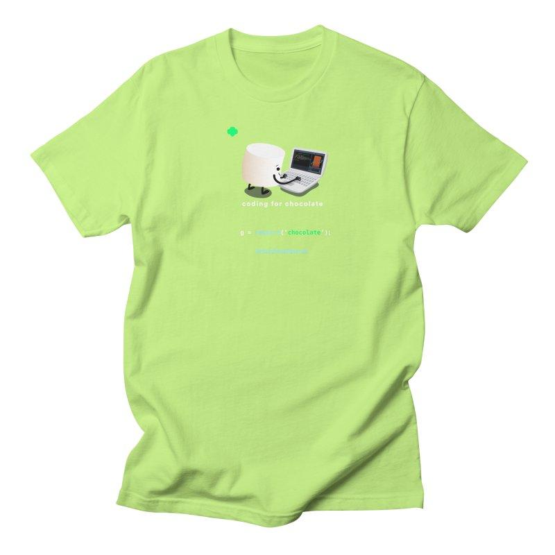 coding for chocolate Men's Regular T-Shirt by marshmallowrun's Artist Shop