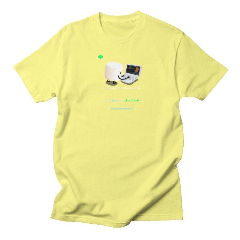 coding for chocolate Women's Regular Unisex T-Shirt by marshmallowrun's Artist Shop