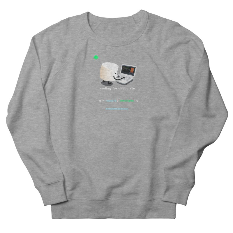coding for chocolate Women's French Terry Sweatshirt by marshmallowrun's Artist Shop
