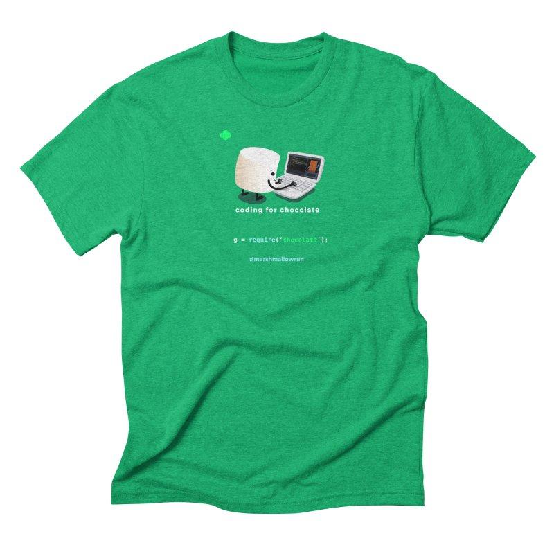 coding for chocolate Men's Triblend T-Shirt by marshmallowrun's Artist Shop