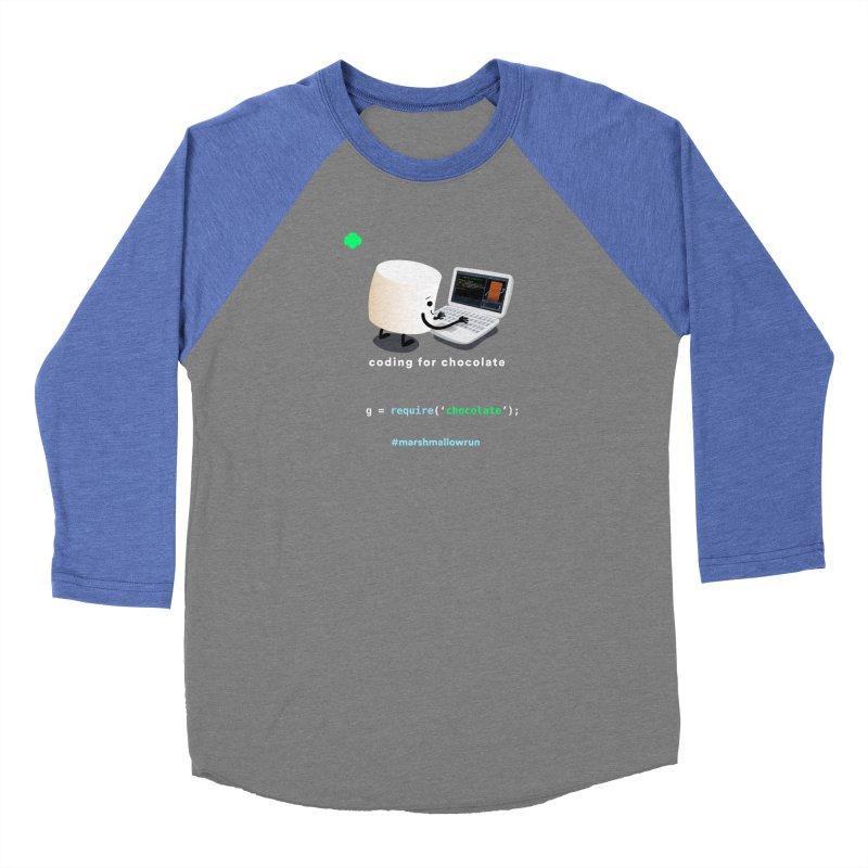 coding for chocolate Women's Baseball Triblend Longsleeve T-Shirt by marshmallowrun's Artist Shop