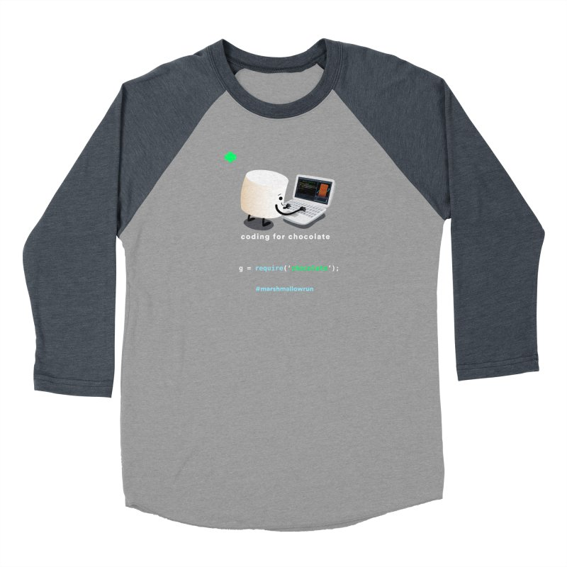 coding for chocolate Men's Baseball Triblend Longsleeve T-Shirt by marshmallowrun's Artist Shop