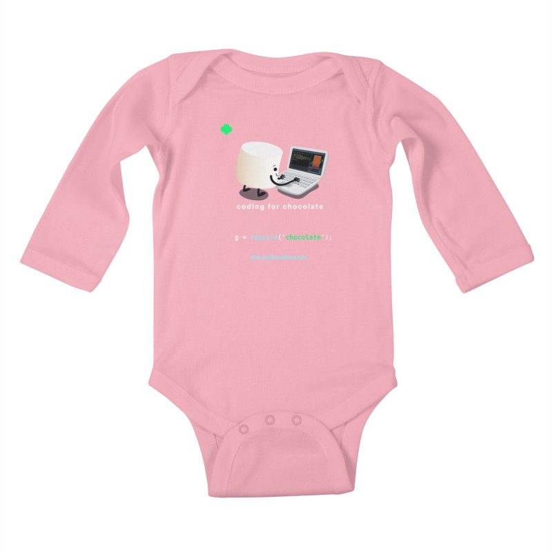 coding for chocolate Kids Baby Longsleeve Bodysuit by marshmallowrun's Artist Shop