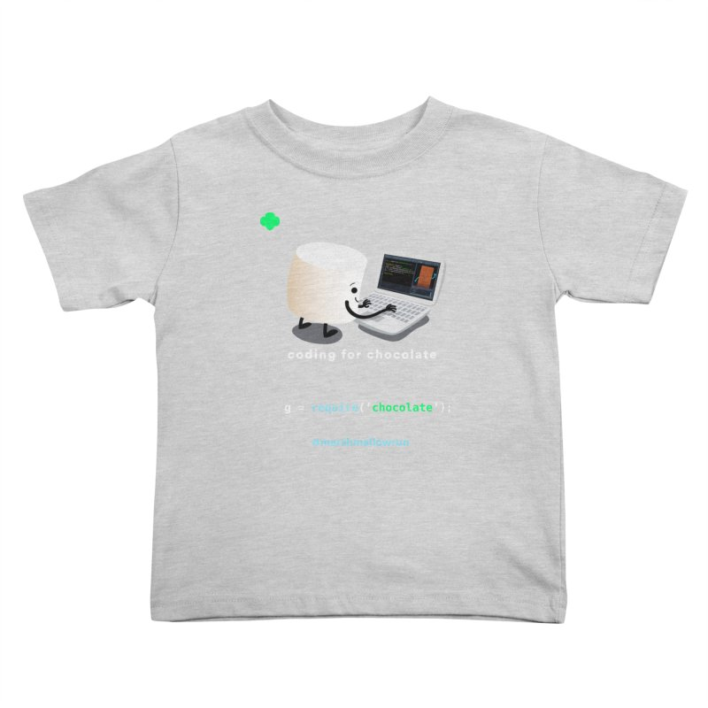coding for chocolate Kids Toddler T-Shirt by marshmallowrun's Artist Shop