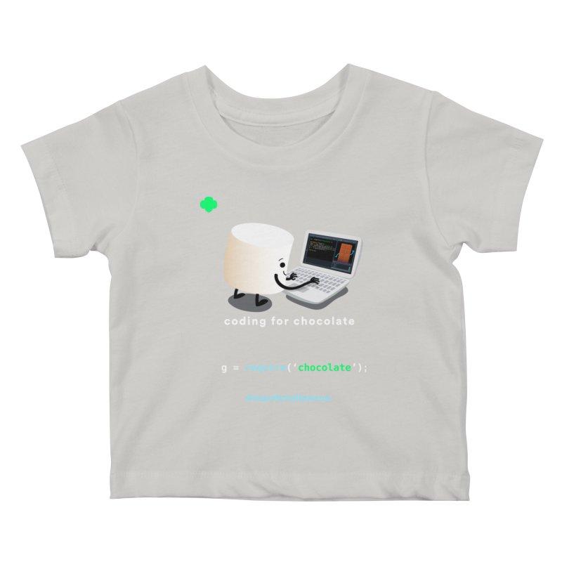 coding for chocolate Kids Baby T-Shirt by marshmallowrun's Artist Shop