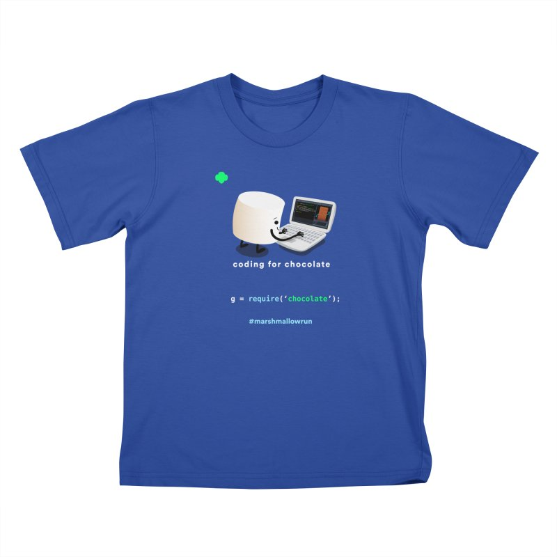 coding for chocolate Kids T-Shirt by marshmallowrun's Artist Shop
