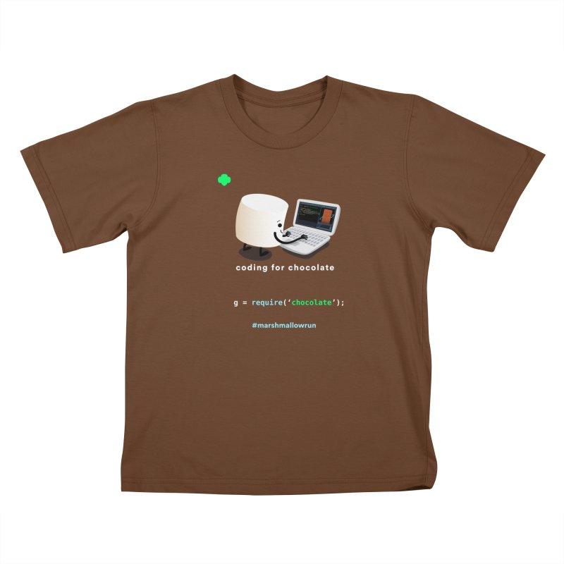coding for chocolate Kids T-Shirt by marshmallowrun's Artist Shop
