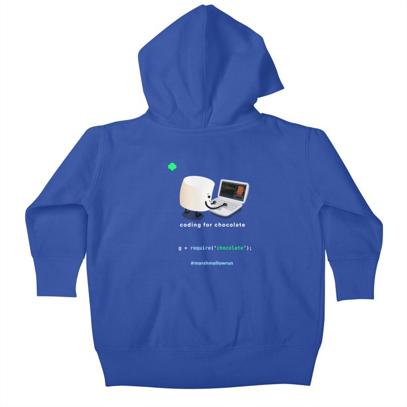 coding for chocolate Kids Baby Zip-Up Hoody by marshmallowrun's Artist Shop