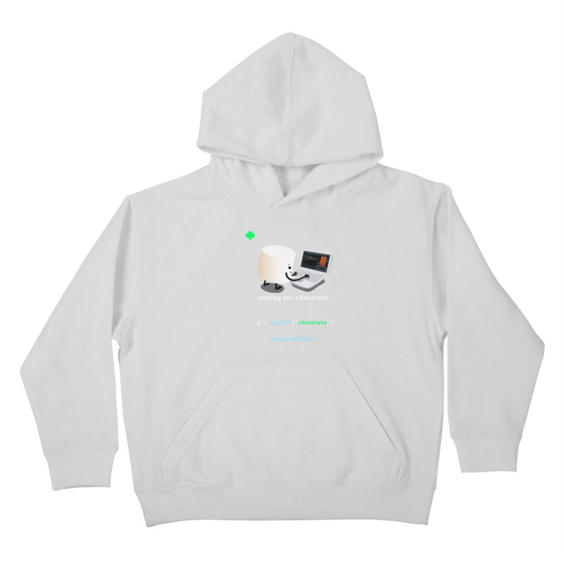 coding for chocolate Kids Pullover Hoody by marshmallowrun's Artist Shop